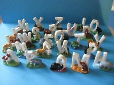 WADE FULL SET ALPHABET/LETTER WHIMSIES, 2009/CAT, ALPACA, ZEBRA, FOX, PENGUIN