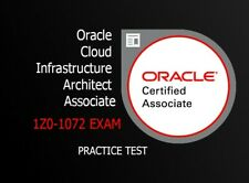 Oracle Cloud Infrastructure 2019 Architect Associate - 1Z0-1072 DUMPS
