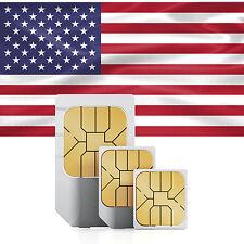USA Prepaid Daten SIM + 500 MB Datenvolumen