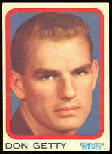 1963 TOPPS CFL FOOTBALL #24 DON GETTY VGEX EDMONTON ESKIMOS WESTERN ONTARIO UNIV