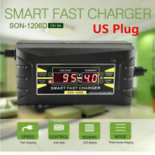 ECO 12V 6A Auto Smart Quick Lead-acid Battery Charger for Car Vehicle LCD
