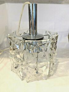 Kinkeldey Hängelampe Lampe Kristall Chrom 14 große Prismen 6 flammig