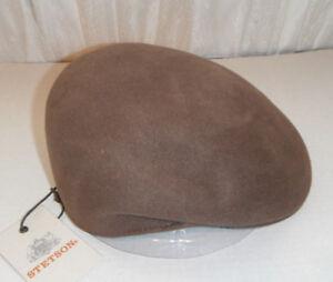 Stetson driving cap Cuffley Cap Wool Hat light brown large