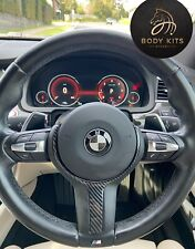 BMW Carbon Fibre Steering Wheel Cover Set For BMW1,2,3,4,5,6,7Series.