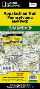 National Geographic TI Appalachian Trail PA Topo Map Guide Bundle Pack