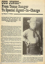 Texas Ranger Lawman Gus Jones - Special Agent In Charge