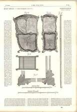 1863 Sedan Chair Glass Panes Panels Assembly Cross-section Louis Xv Artwork