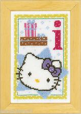 Vervaco  0149533  Alphabet © Hello Kitty - Lettre I  Kit  Point de Croix  Compté