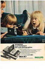 PUBLICITE  1969   PHILIPS  magnétophone mini K7