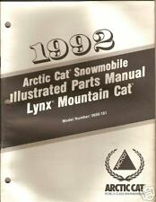 1992 ARCTIC CAT LYNX  MOUNTAIN CAT PARTS  MANUAL