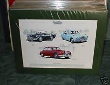 Classic Daimler Mounted full colour Print