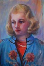 EDDA MAXWELL HEATH 1875 GIRL WOMAN PORTRAIT OIL DAVENPORT LISTED CALIFORNIA