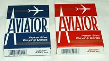 1-Deck Of Aviator~Playing Cards~Red OR Blue~Made In The USA~Buy-2-Get-3rd-FREE