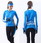 Hot Womens Sports Wear Bike Cycling Bicycle Long Sleeve Jersey Padded Pants Sets