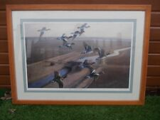 WIGEON OVER THE BLACK HUT SIGNED PRINT JULIAN NOVOROL 50/500 WILD FOWLING BASC