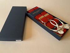 Brand New Albert Thurston Men's Braces - Red Boxcloth  - Size - Large