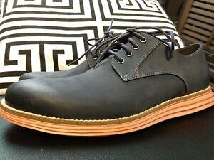 COLE HAAN Navy/Orange ORIGINAL GRAND OS PLAIN TOE OXFORD Dress Shoe MENS 8.5 New