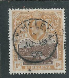 ST HELENA 1903 1s BROWN & BROWN-ORANGE CDS FU SG 59 CAT £40
