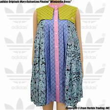 "adidas Originals Mary Katrantzou Pleated ""Windparka Dress""(M)Multi color S07424"