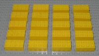 LEGO Bricks   2x4 x 20 pcs - Yellow - Used