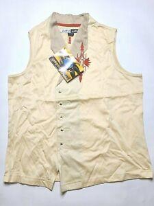 NWT Vintage Dead Stock Jamie Sadock Aztec Button-Up Golf Vest Women's MEDIUM #2