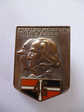 FRENCH ARMY POCKET FOB BADGE.23