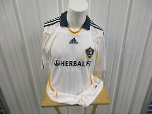 VINTAGE ADIDAS MLS LOS ANGELES GALAXY DAVID BECKHAM #23 XL SEWN JERSEY 2009 KIT
