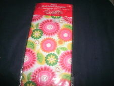 1 New Jumbo Flower/Leaves Book Cover Stretchable Fabric Sox School sock