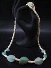 Joya Collar Cadena de Madera Marrón Natural Verde 60Cm #18