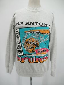 L8402 VTG Logo 7 NBA San Antonio Spurs Basketball Sweatshirt Made In USA Size L