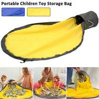 Children Portable Toy Storage Bag Clean-up Play Mats Toys Organizer Oxford Cloth