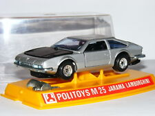 Politoys M25 Lamborghini Jarama Silver/Black 1/43 Boxed