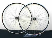 27 x 1 1/4 Front & Rear 6/7 spd Bike Clincher wheelset RIM w Q.R. Black