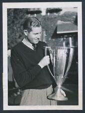 1937 Horton Smith, Impressive Photo with Western Open Trophy