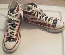 Converse All Star Chuck Taylor Hi-Top Sneakers American Flag Size Men 5 Women 7