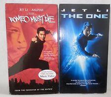 Jet Li, Lot of 2, VHS Movies, THE ONE  2002, Romeo Must Die 2000