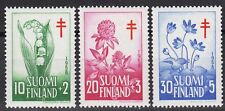 Lily of the Valley Hepatica Clover Cute Flowers Finland Mint MNH Stamp Set 1958
