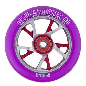 Grit Bio Core Spoked Wheel - 110mm - Purple on Silver/Red