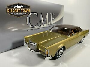 PRE-ORDER 1:18 1970 Lincoln Continental Mark III Gold w/Black Roof by CMF Models