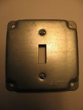 """STEEL CITY  RS9 4""""SQUARE BOX SURFACE MOUNT COVER PLATE,ONE SWITCH."""