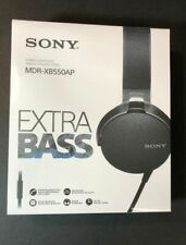 Sony Extra Bass Stereo On-Ear Wired Headphones MDR-XB550AP - Black (BRAND NEW)