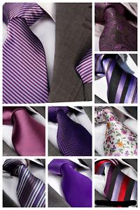 Italian Designer Milano Exclusive PURPLE / LILAC / CADBURY Silk Tie