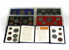 Lot of 6 Great Britain, Ireland, and New Zealand Decimal Coin Sets
