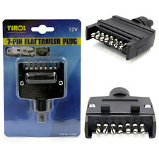 7-Pin Flat Trailer Plug Trailer Light Connector 12V 7 Way Male Trailer Adapter