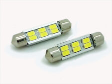2 X White 8 LED Back Interior 44mm 264 Bulbs For Vauxhall Vivaro Renault Trafic