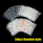 50 3D Sheet Flower Decal Transfer Manicure Nail Art Stickers Tips Decoration DIY