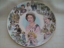 Commemorative plate for 60th Birthday of Queen Elizabeth II, Coalport, 1986