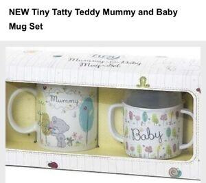 Tiny Tatty Teddy Mummy And Baby Mug Set Brand New