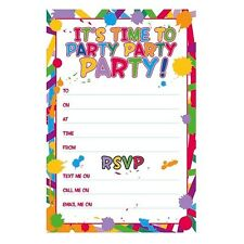 GENERAL Happy BIRTHDAY Party Invitations & Envelopes Boy Male Girl Female Invite