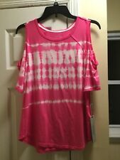NWT CALVIN KLEIN PERFORMANCE TYE DIE CUT OUT SHOULDERS SIZE M COLOR PINK